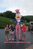 Uncle Sam Stiltwalking and Balloons